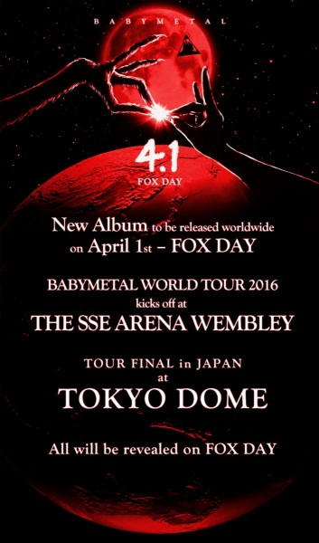 BABYMETAL FOX Day New Album