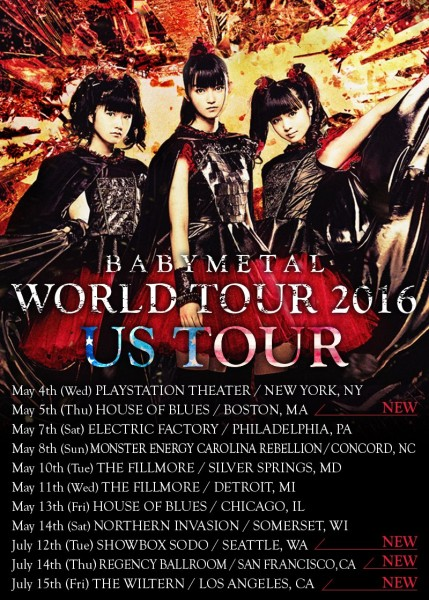 BABYMETAL World Tour US 2016