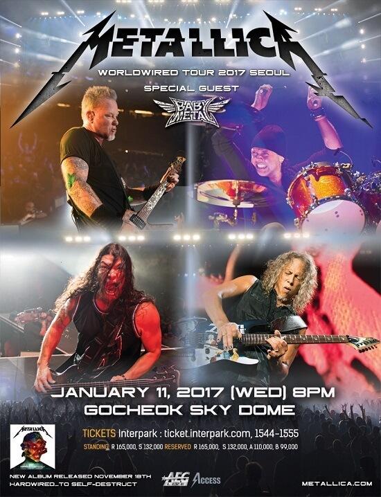 Metallica BABYMETAL Korea